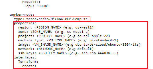 worker node infrastructure configuration