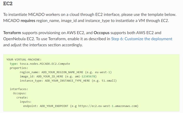 vm configuration options